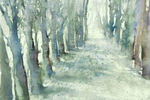 Winterallee 42 x 32 cm