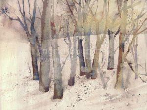 Bäume v 42 x 32 cm